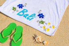 海滩天在巴厘岛 库存图片