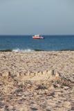 海滩天 免版税库存图片