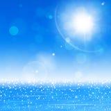 海洋太阳模糊的光 库存例证