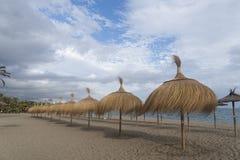 海滩太阳海岸在南安大路西亚,马尔韦利亚 库存图片