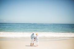 海滩夫妇递藏品前辈 图库摄影