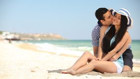 海滩夫妇 股票视频