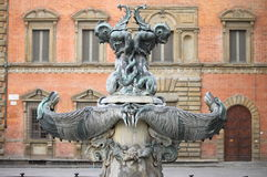 海洋妖怪的喷泉 免版税库存照片