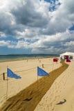海滩婚礼在伯恩茅斯,多西特 免版税库存图片