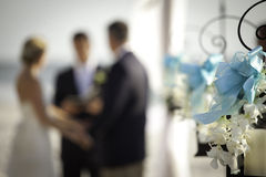 海滩婚礼仪式 免版税库存照片