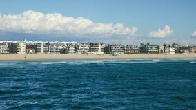 海滩定期流逝如被看见从海洋 股票视频
