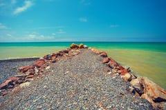海滩小卵石 免版税库存照片