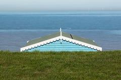 海滩小屋屋顶 免版税库存图片