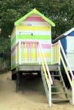 海滩小屋,其次维尔斯海,诺福克。 库存图片