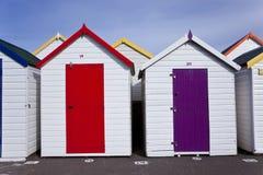 海滩小屋, Goodrington,佩恩顿 库存图片