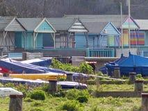 海滩小屋, Whitstable 免版税库存照片