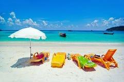 海滩小船泰国 免版税库存图片