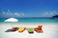 海滩小船泰国 库存图片