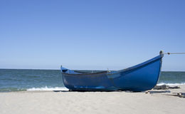 海滩小船danang捕鱼nam viet 免版税图库摄影