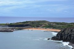 海滩费尔南多・迪诺罗尼亚群岛 免版税图库摄影