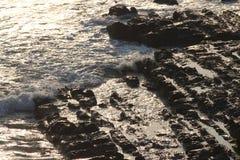 海滩岩石顶视图  免版税库存图片