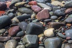 海滩岩石,圣新娘的,纽芬兰 图库摄影