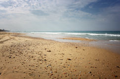 海滩岸开放看法  免版税库存照片