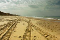 海滩岸开放看法  库存图片