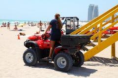 海滩巡逻在迈阿密海滩 图库摄影
