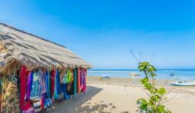 海滩市场在巴厘岛 库存图片