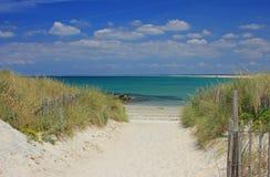 海滩布里坦尼法国 库存照片