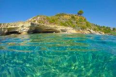 海滩希腊 免版税库存图片