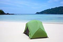 海滩帐篷 免版税图库摄影