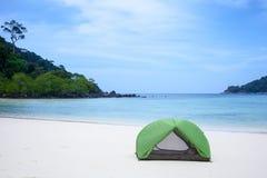 海滩帐篷 库存图片