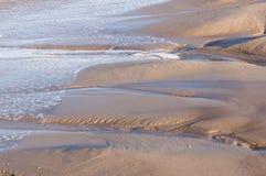 海滩水平的照片沙子风景海运 库存照片
