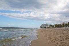 海滩平静和纯净 免版税图库摄影