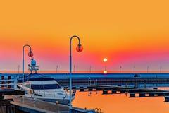 海滨广场在Sopot 免版税库存图片