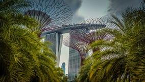 海滨广场海湾在新加坡铺沙旅馆 库存图片