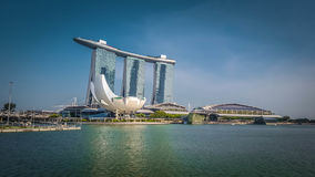 海滨广场海湾在新加坡铺沙旅馆 库存照片