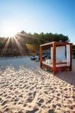 海滩床 库存图片