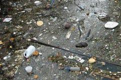 海洋废弃物在加勒比 库存图片