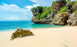海滩离开的热带 库存图片