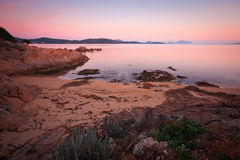 海滩意大利撒丁岛 库存图片