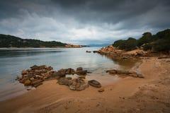 海滩意大利撒丁岛 库存照片