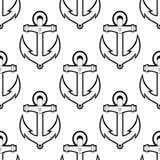 海洋或船舶无缝的背景样式 免版税库存照片
