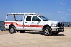 海滩抢救卡车 库存照片