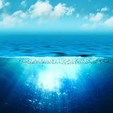 海洋抽象的背景 免版税图库摄影