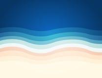 海滩抽象背景,传染媒介,例证 免版税图库摄影