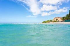 海滩巴拉德罗角在古巴 免版税库存照片