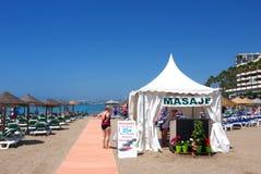海滩按摩西班牙 图库摄影