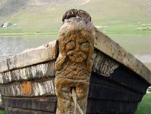 海洋捕鱼小船 库存照片