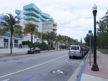 海洋推进大道,迈阿密佛罗里达 免版税库存照片