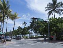 海洋推进大道,迈阿密佛罗里达 免版税图库摄影