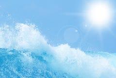 海洋水摘要背景 免版税库存图片