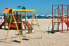海滩操场 免版税图库摄影